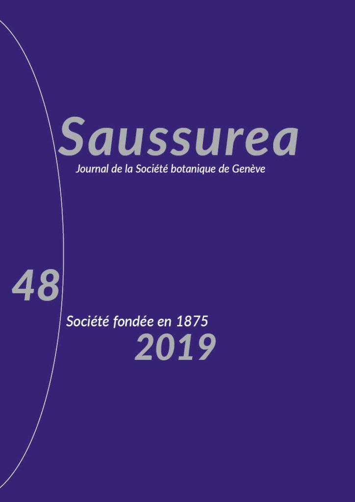 Couverture du Saussurea 48