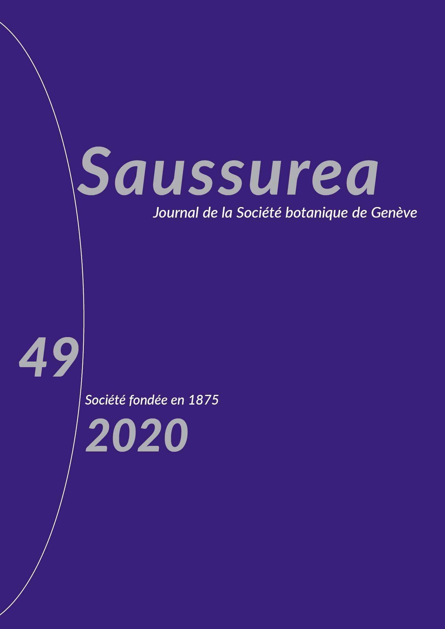 Couverture du Saussurea 49